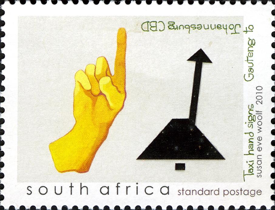 (原创)看邮票识南非1:打车手势 - 六一儿童 - 译海拾蚌