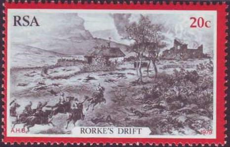 (原创)看邮票识南非47:祖鲁战争之罗克渡口战役 - 六一儿童 - 译海拾蚌