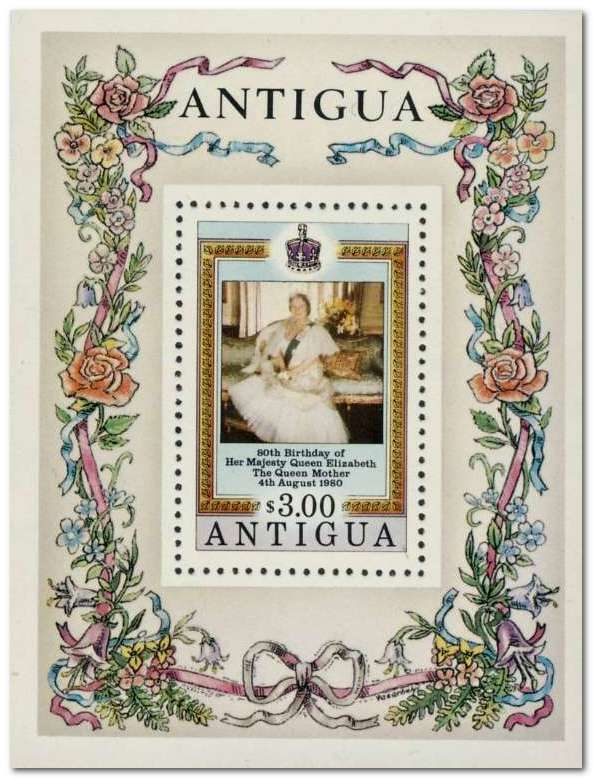 Antigua 1980 Queen Mothers 80th Birthday ms.jpg