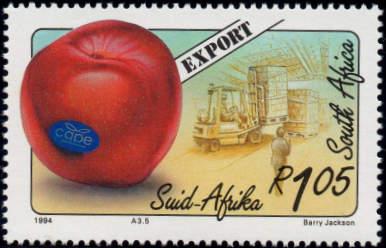 (原创)看邮票识南非:水果出口 - 六一儿童 - 译海拾蚌
