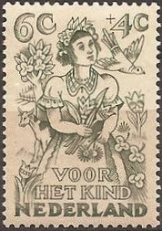 Netherlands 1949 Child Welfare 6c+4c.jpg