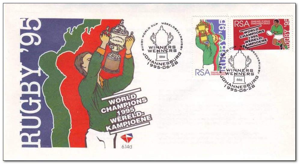 (原创)看邮票识南非34:南非夺橄榄球世界杯冠军 - 六一儿童 - 译海拾蚌