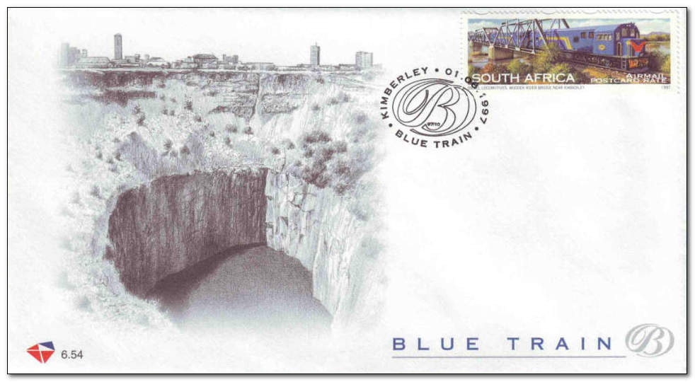 (原创)看邮票识南非2:蓝色列车 - 六一儿童 - 译海拾蚌