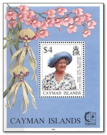Cayman Islands 1995 Queen Mother's 95th Birthday fdc.jpg