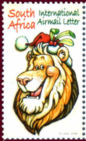 (原创)南非邮票欣赏:动物圣诞节 - 六一儿童 - 译海拾蚌