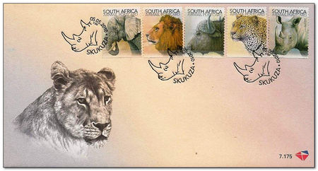 South Africa 2010 The Big Five fdc.jpg