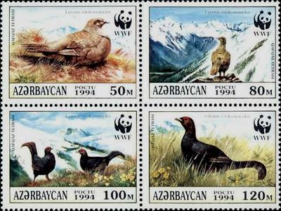 Azerbaijan 1994 The Caucasian Black Grouse a.jpg