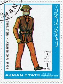 Ajman 1972 Airmail - Military Uniforms 1rG.jpg