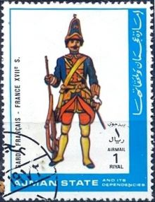 Ajman 1972 Airmail - Military Uniforms 1rJ.jpg