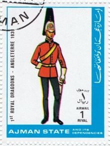 Ajman 1972 Airmail - Military Uniforms 1rE.jpg
