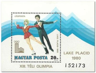 Hungary 1979 Airmails - Winter Olympic Games - Lake Placid ms.jpg