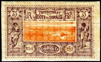 Djibouti 1894-1902 Definitives - View of the City k.jpg