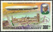 Malagasy Republic 1976 75th anniversary of the Zeppelin f.jpg