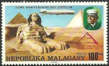 Malagasy Republic 1976 75th anniversary of the Zeppelin d.jpg