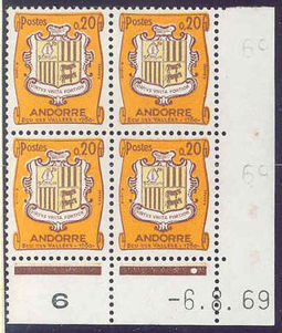 Andorra - French 1961 Definitives - Landscapes 20c .jpg