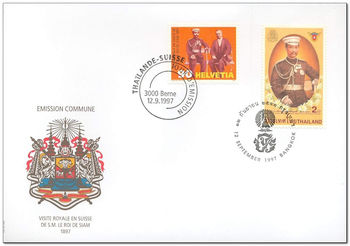 Switzerland 1997 King Rama V Visit Centenary 1MS1.jpg
