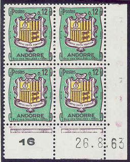 Andorra - French 1961 Definitives - Landscapes 12c .jpg