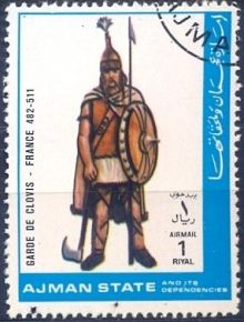 Ajman 1972 Airmail - Military Uniforms 1rP.jpg