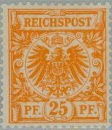 Germany-Empire 1889 Definitives - Figure and Imperial Eagle 25pf.jpg