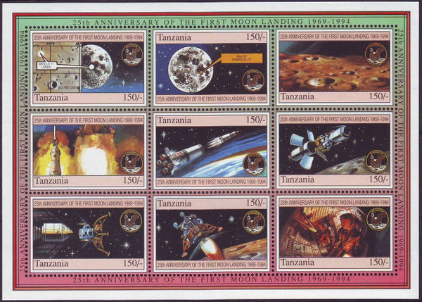 Tanzania 1994 First Manned Moon Landing, 25th Anniversary a.jpg