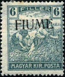 "Fiume 1918 Hungarian Definitives ""Harvesters"" - Overprinted d.jpg"