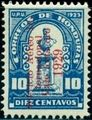 Honduras 1929 Bust of Dionisio de Herrera - Airmail Surcharges 5 over 10c.jpg