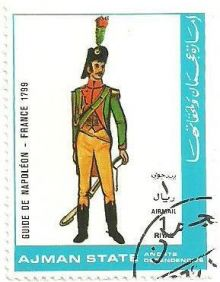 Ajman 1972 Airmail - Military Uniforms 1rM.jpg