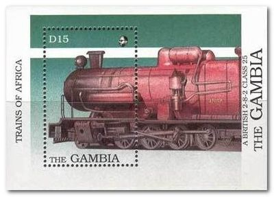 Gambia 1989 Steam Locomotives ms.jpg