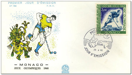 Monaco 1968 Summer Olympic Games - Mexico City 2fdc.jpg