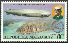 Malagasy Republic 1976 75th anniversary of the Zeppelin c.jpg
