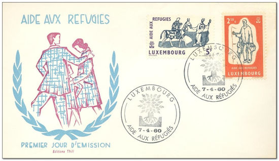 Luxembourg 1960 World Refugee Year fdc.jpg