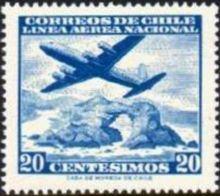 Chile 1960 Airmail - Aircrafts 20c.jpg