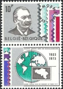 Belgium 1973 Belgian Stamp Dealers Association V1.jpg