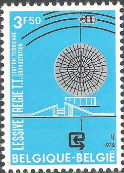 Belgium 1972 Satellite Earth Station, Lessive 3F50.jpg