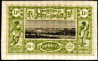 Djibouti 1894-1902 Definitives - View of the City l.jpg
