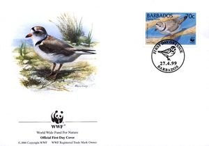 Barbados 1999 Threatened Species Piping Plover WWF 4.jpg