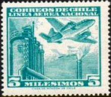 Chile 1960 Airmail - Aircrafts 5m.jpg