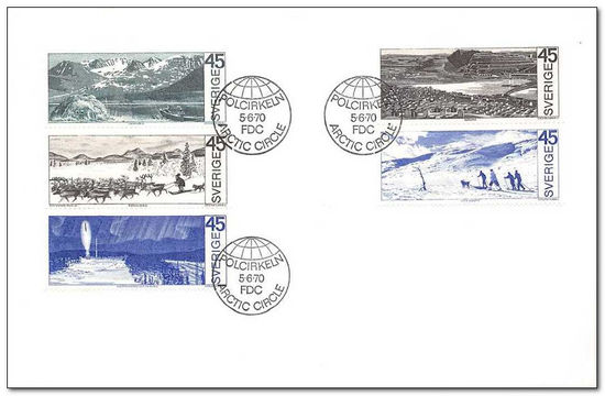 Sweden 1970 Sweden inside the Arctic Circle fdc.jpg