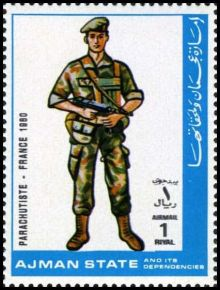 Ajman 1972 Airmail - Military Uniforms 1rN.jpg