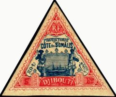 Djibouti 1894-1902 Definitives - View of the City o.jpg