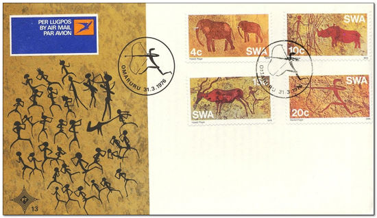 South West Africa 1976 Pre-historic Rock Paintings fdc.jpg