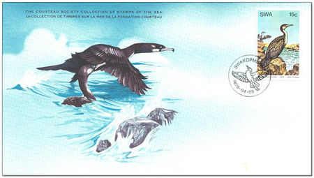 South West Africa 1979 Water Birds 1fdc.jpg