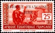 French Equatorial Africa 1940 Definitives - People of Chad Region 25c.jpg
