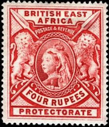"British East Africa 1897 Definitives - Queen Victoria - Inscribed ""BRITISH EAST AFRICA"" - Larger Size 4r.jpg"