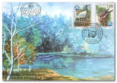 Yugoslavia 1998 Serbian Nature Protection Institute fdc.jpg
