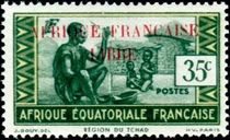French Equatorial Africa 1940 Definitives - People of Chad Region 35c.jpg