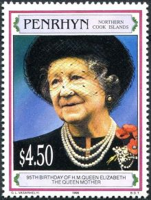 Penrhyn 1995 Queen Mother, 95th Birthday a.jpg