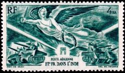 French Indian Settlements 1946 Airmail - Victory a.jpg