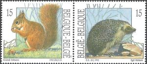 Belgium 1992 Nature - Small Mammals h.jpg