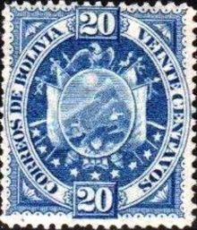 Bolivia 1894 Definitives Coat of arms 20c.jpg
